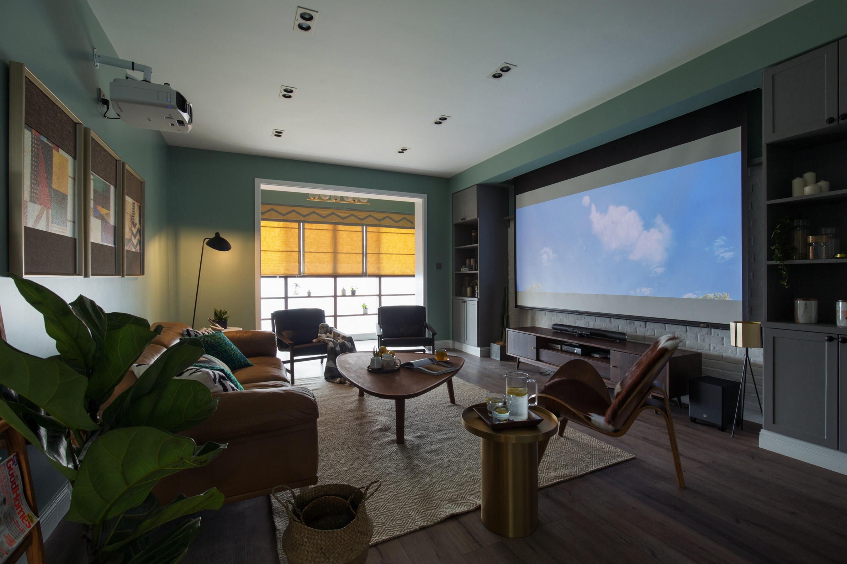 北欧四居之家电视背景墙图片