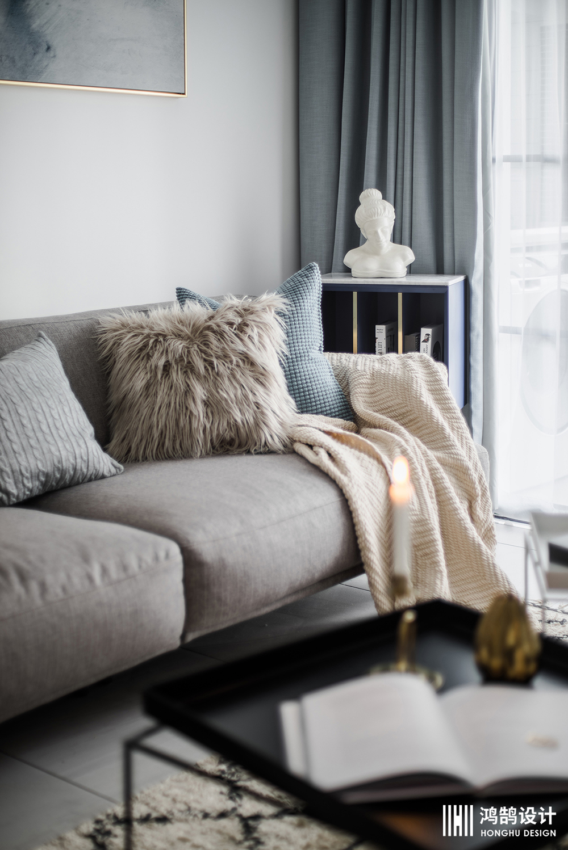 85㎡北欧风两居装修沙发图片