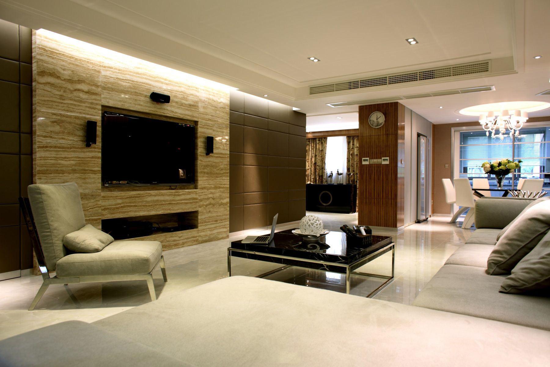 时尚现代二居室内隔断设计