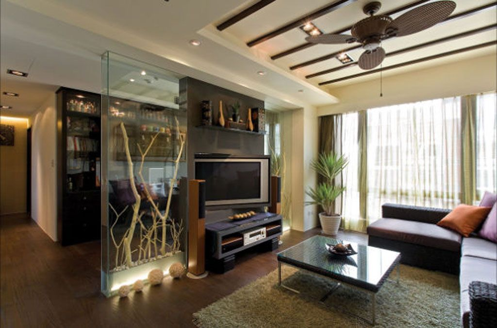 美式后现代混搭风 客厅电视背景墙欣赏
