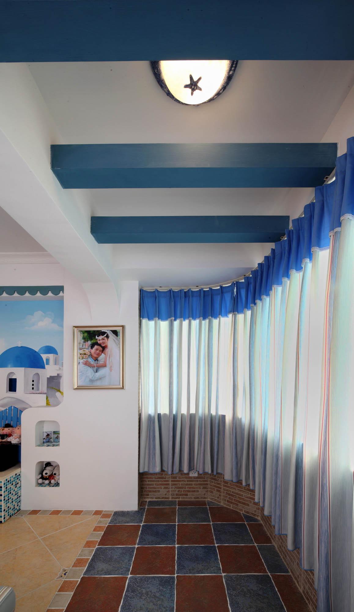 二居室地中海风格家阳台设计图