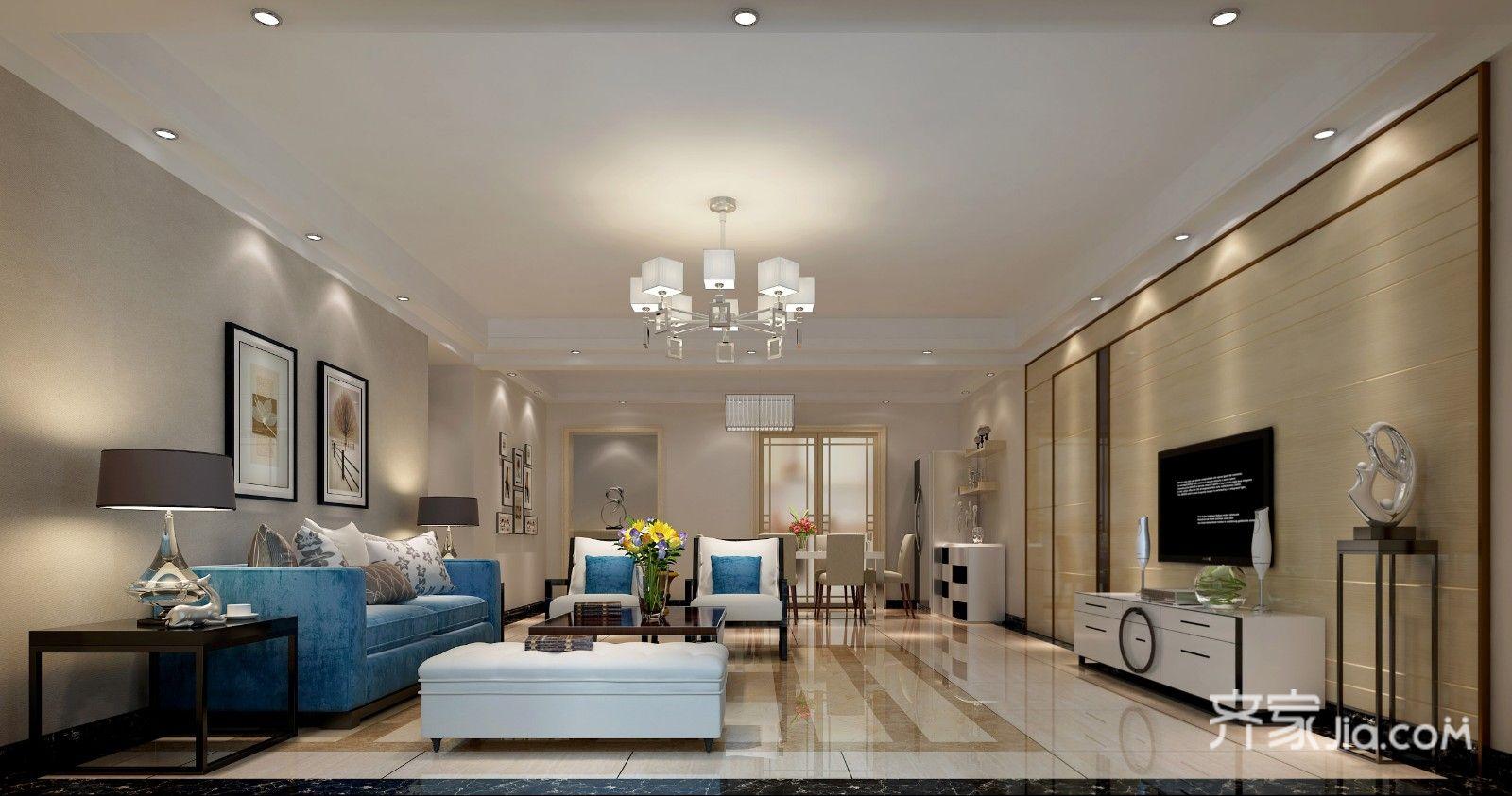 140平米现代风格客厅装修效果图