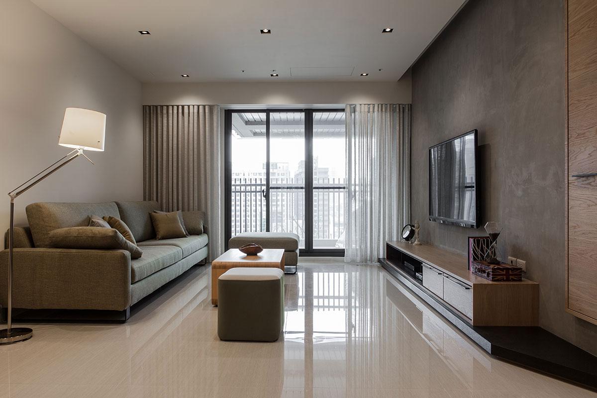 公寓客厅现代素雅风格装饰效果图