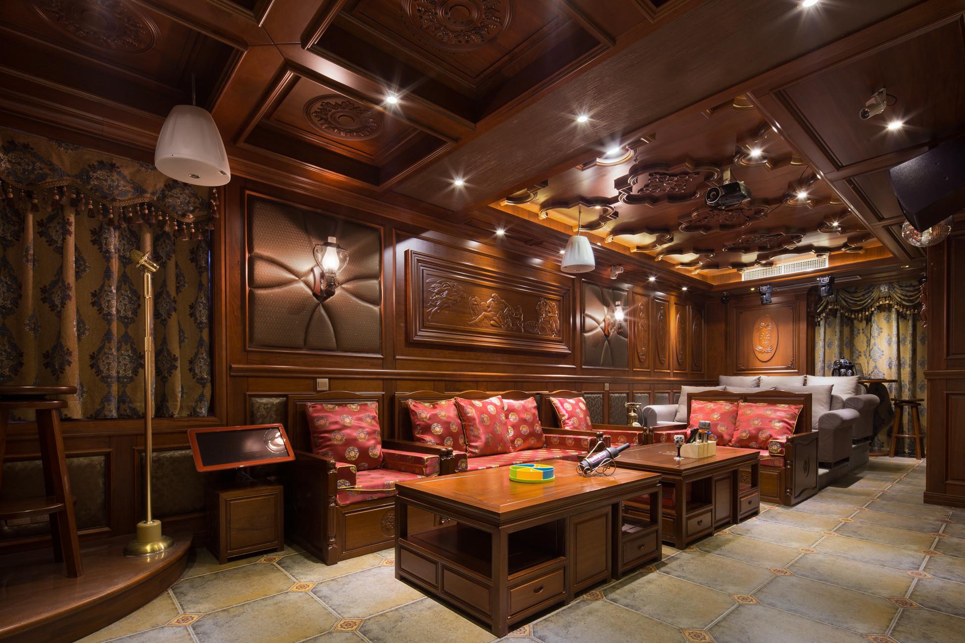 大户型中式风格装修客厅欣赏图