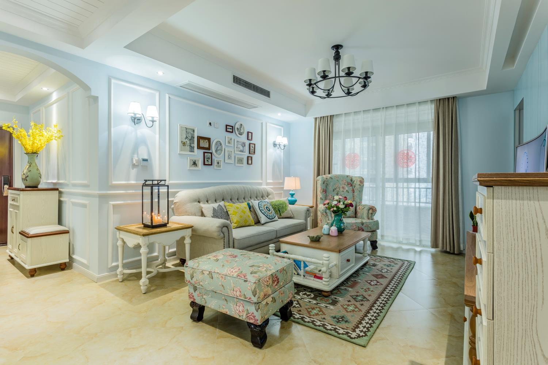 120平美式之家客厅布置图