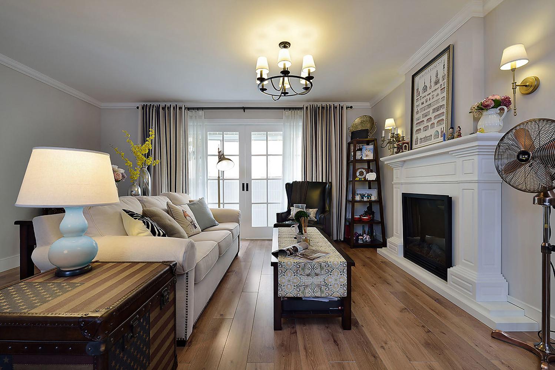 160平美式风格家客厅设计图