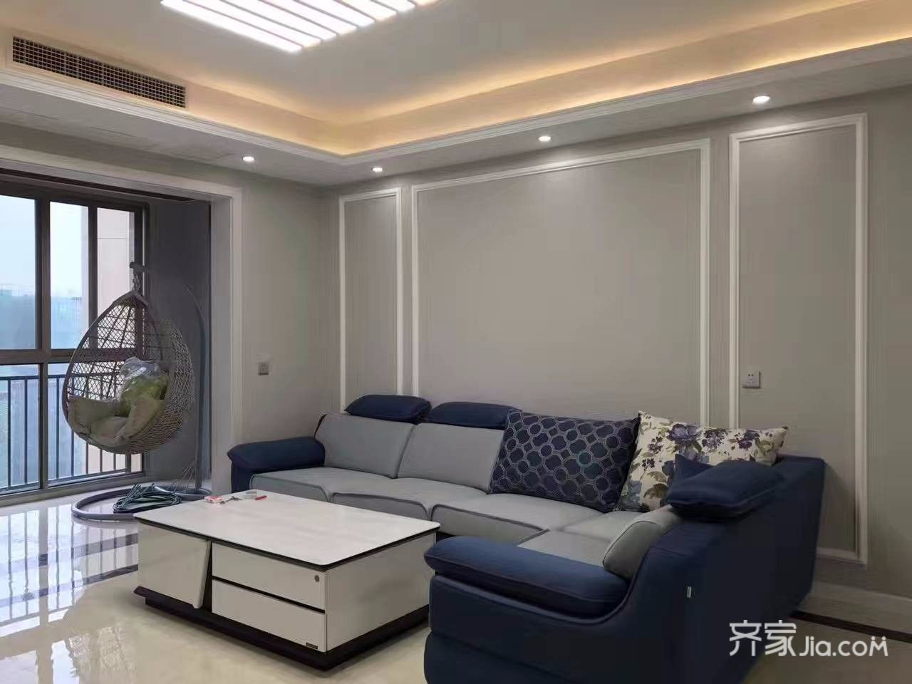 150平米极简主义装修沙发背景墙