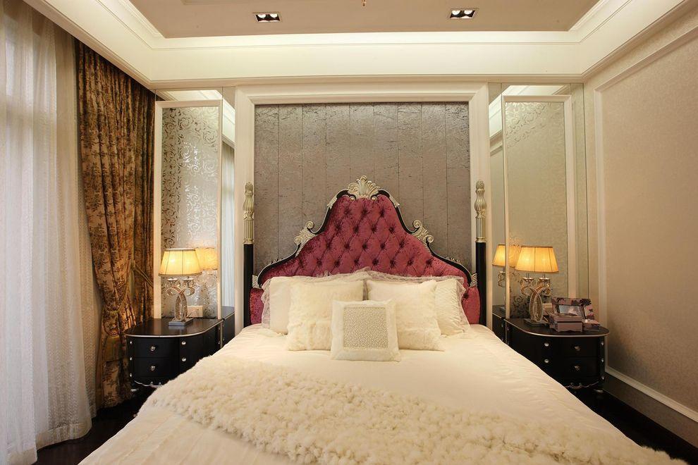 唯美简欧新古典卧室背景墙布置