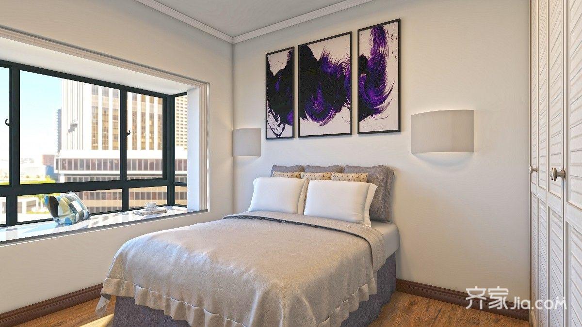 小户型现代简约三居卧室装修效果图