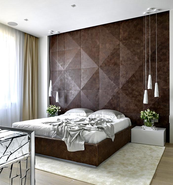 现代简约卧室床头背景墙设计