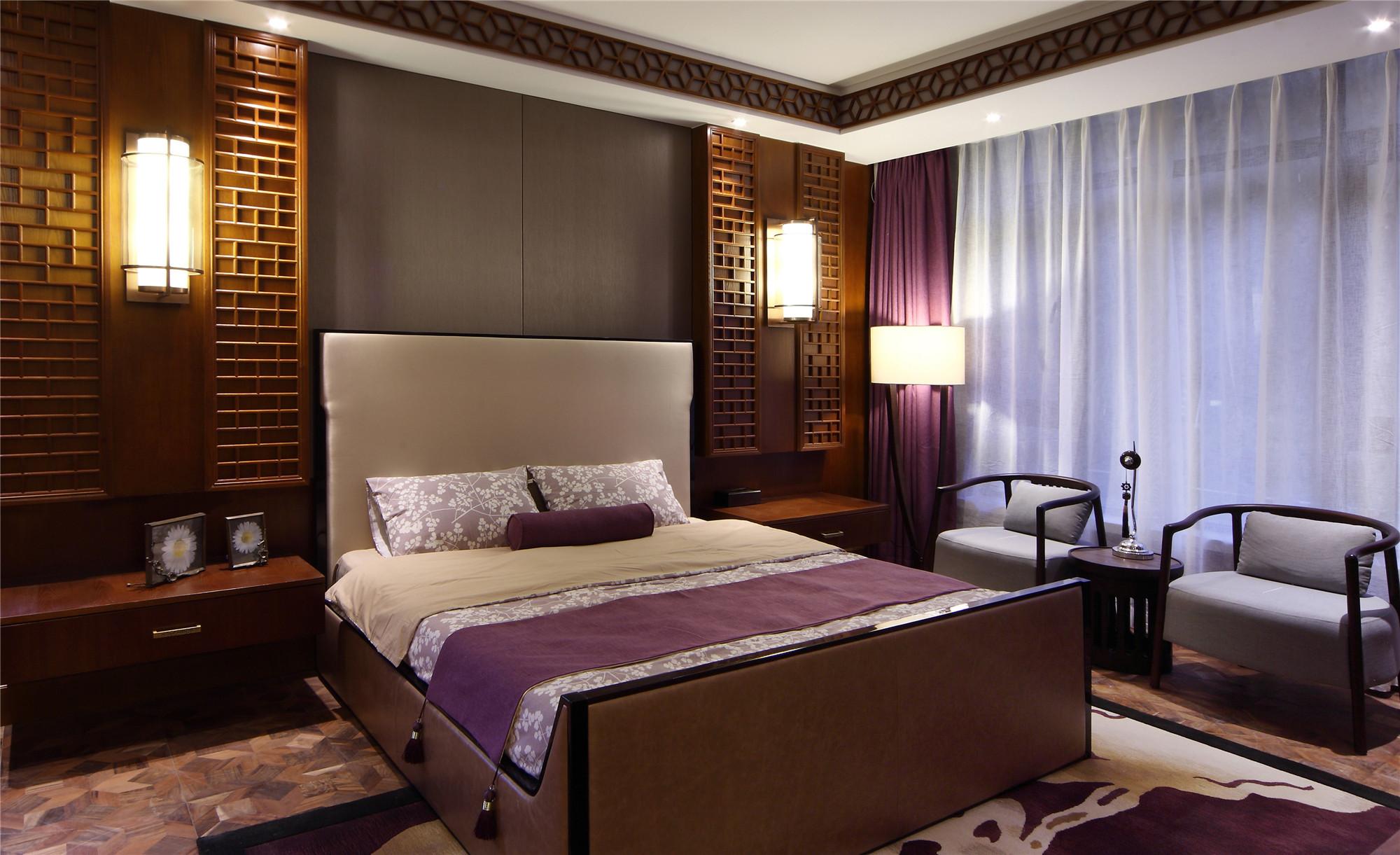 大户型中式装修卧室布局图