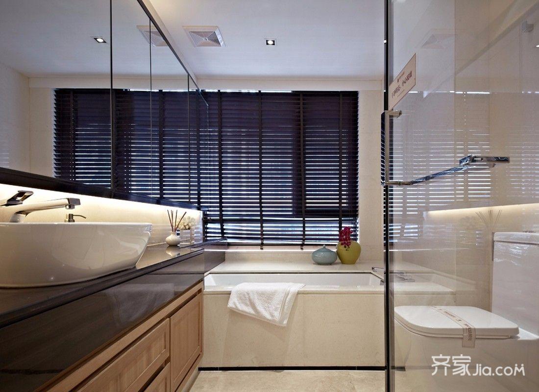 三居室新中式风格卫生间装修效果图