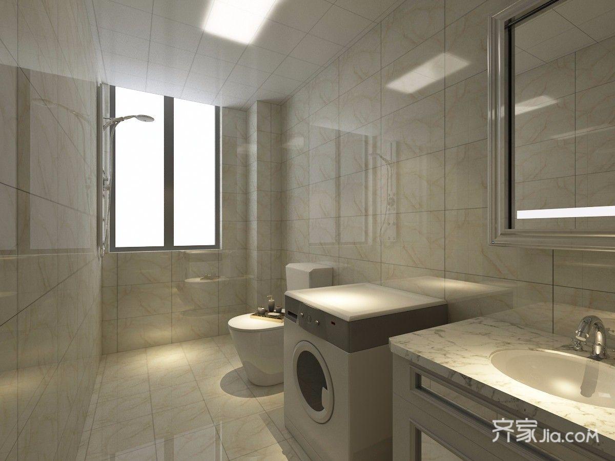110平中式风格三居卫生间装修效果图