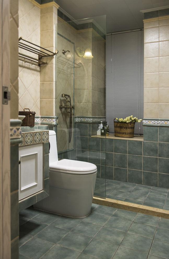 田园地中海风格干湿分离卫生间设计装修图