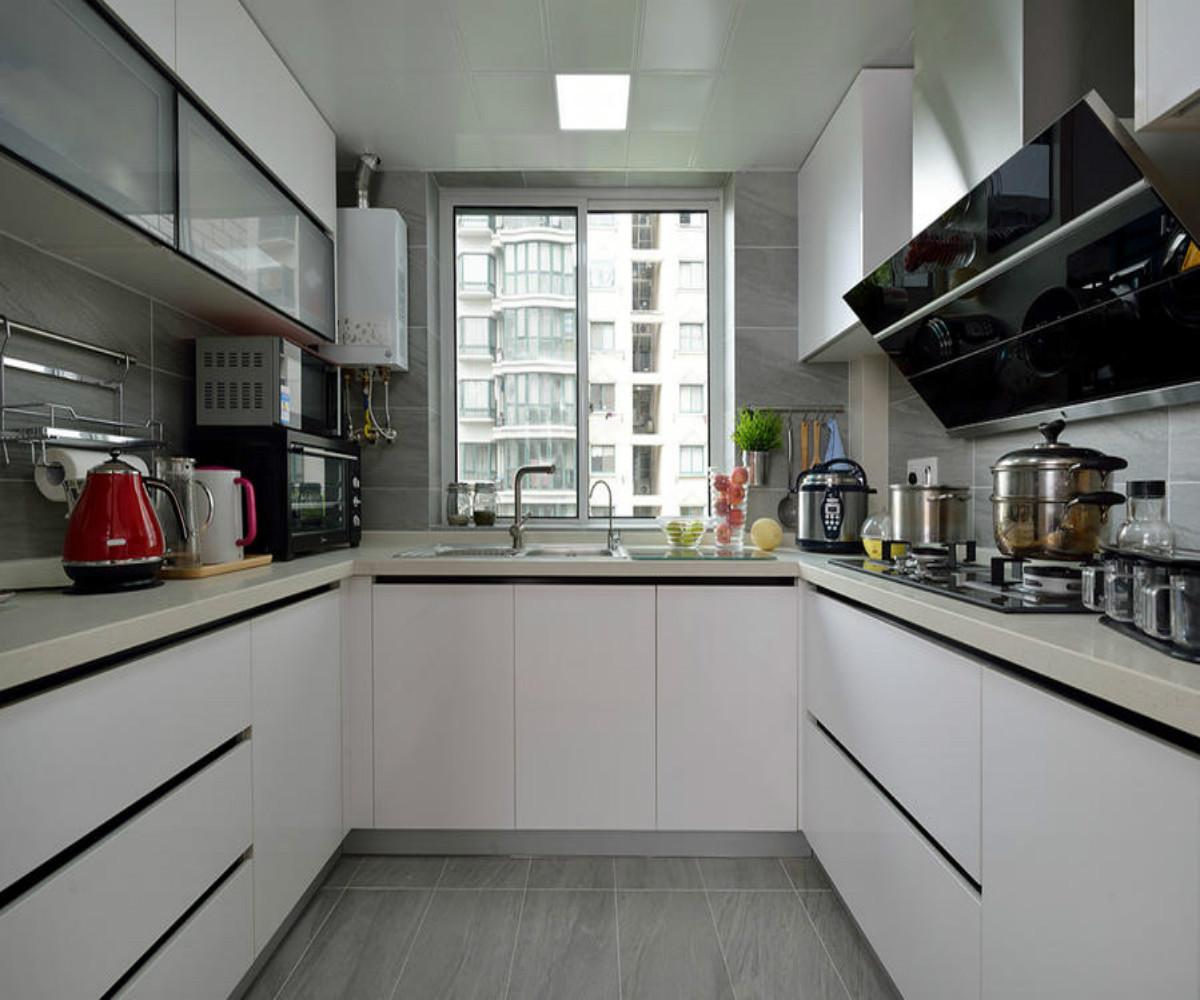 90平简约风格二居厨房构造图