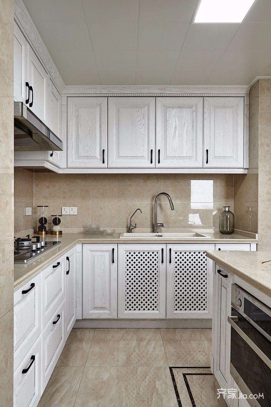 135㎡美式三居室厨房装修效果图