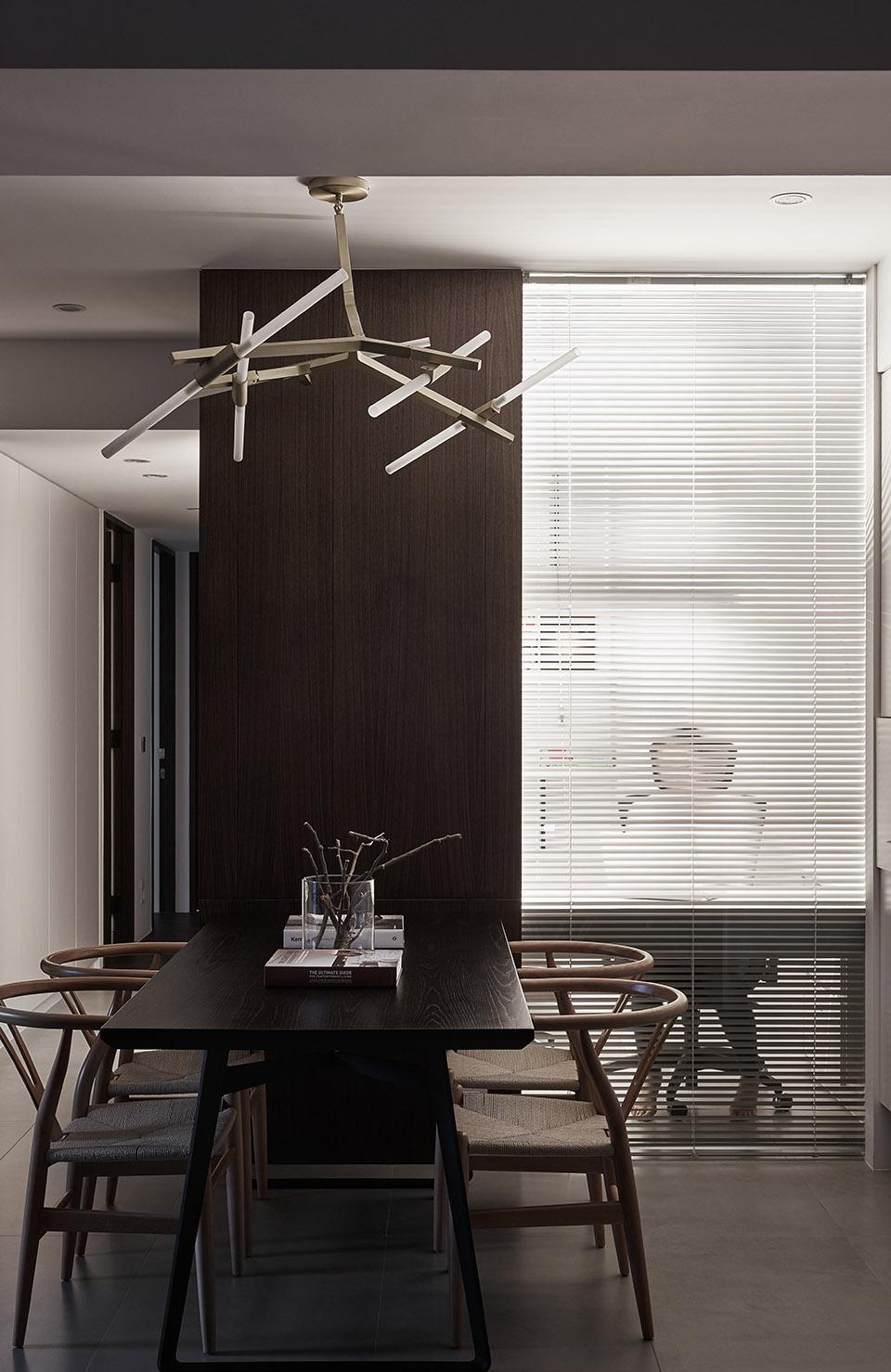 122平现代时尚简约风装修吊灯设计图