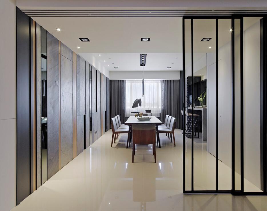时尚舒适现代简约餐厅设计装修欣赏图