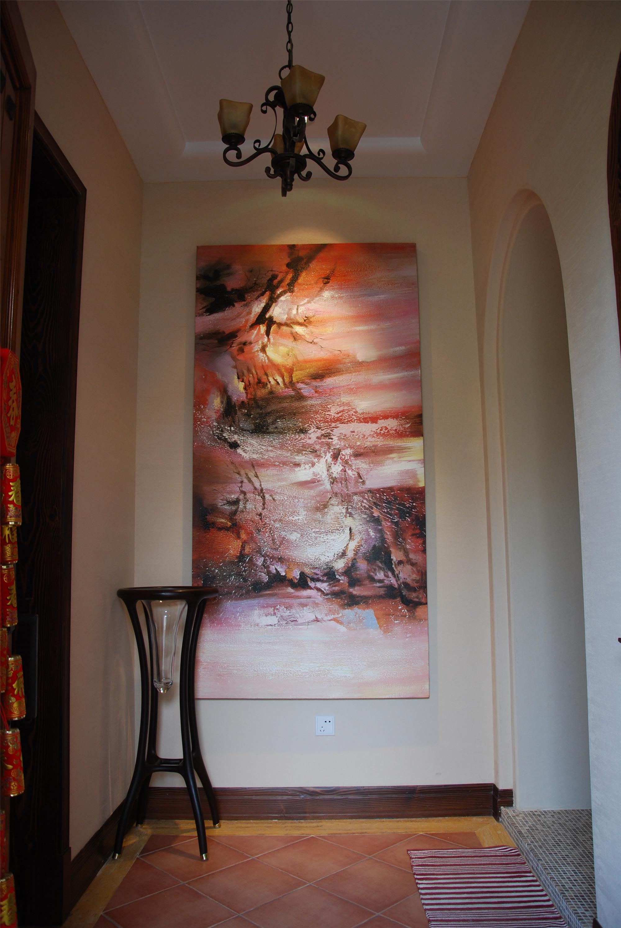 150平美式风格装修玄关欣赏图