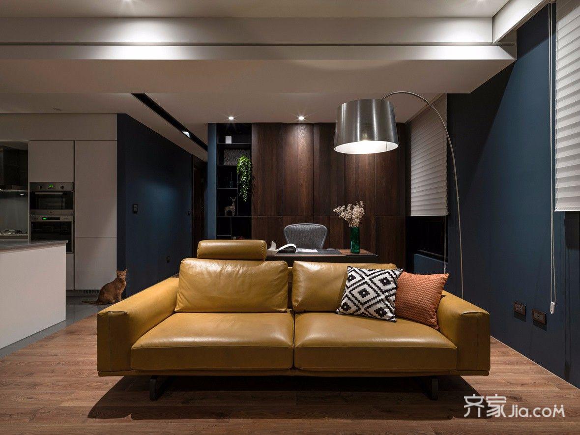 128㎡现代简约风格装修沙发布置图