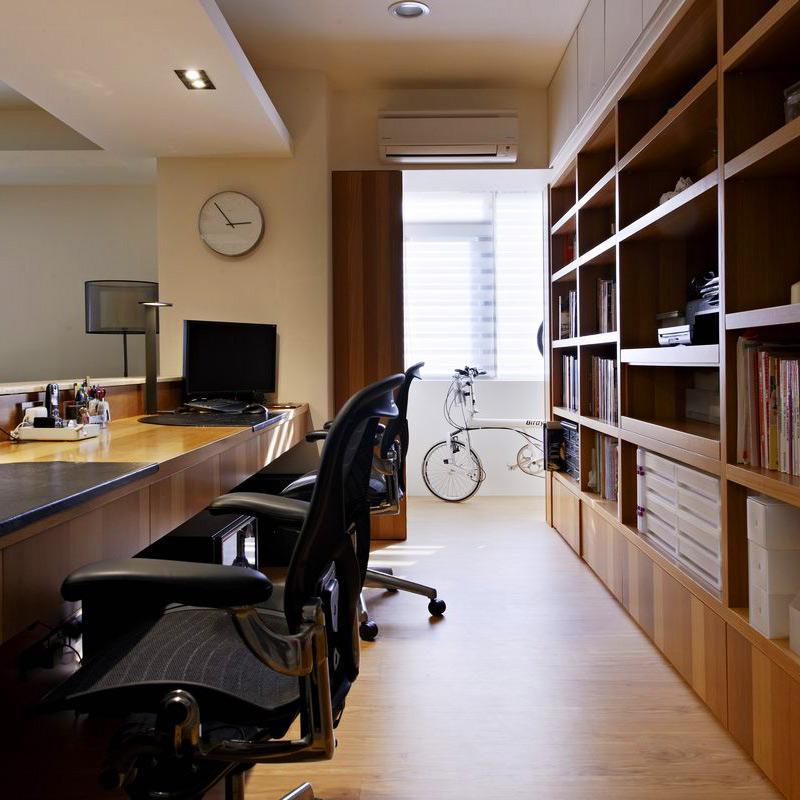 100平现代风格两居书房设计图