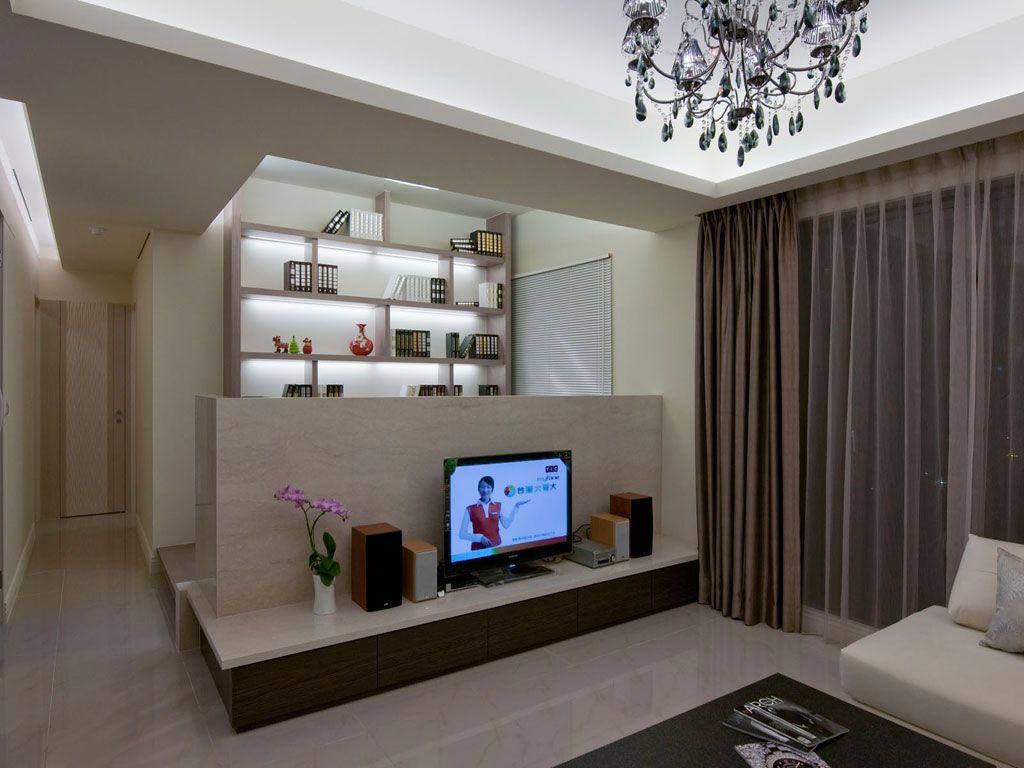 时尚现代家居 电视背景墙半隔断设计