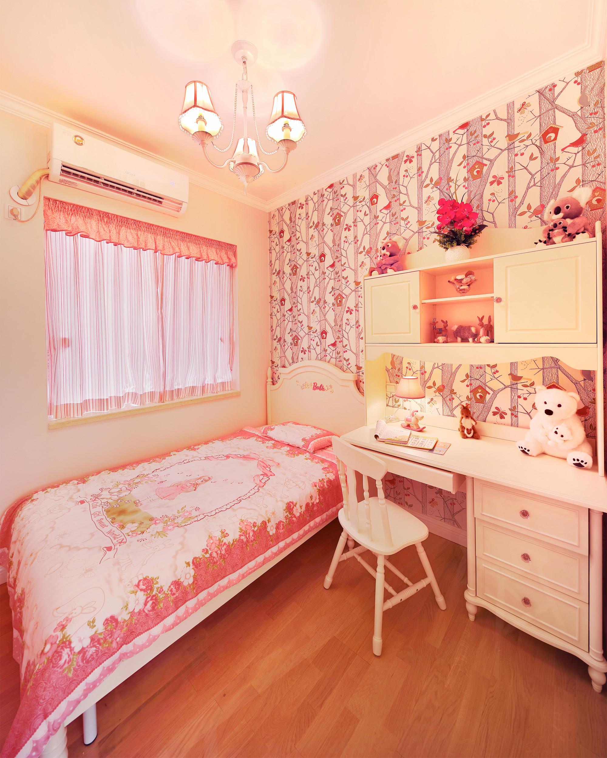 87平美式乡村风格家儿童房设计图