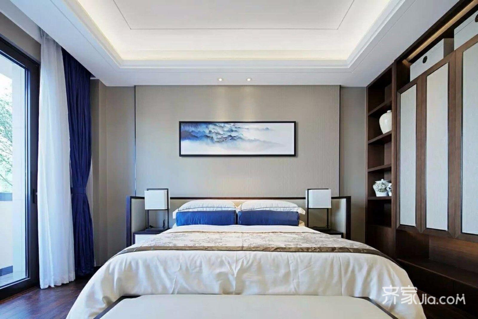 137平中式风格三居卧室装修效果图