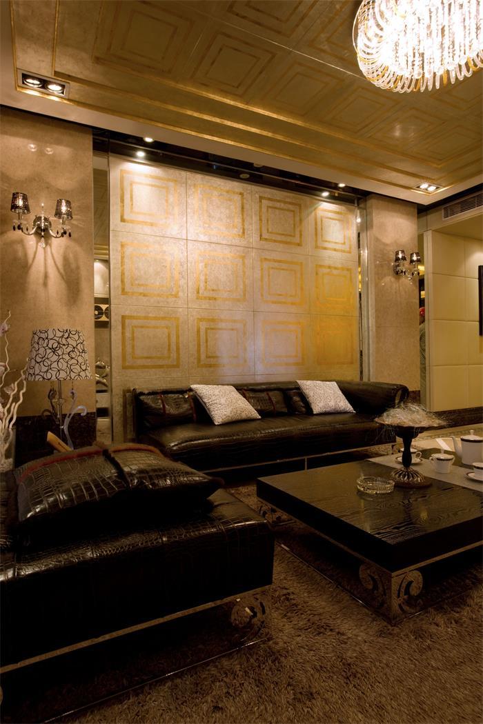 摩登混搭风沙发背景墙设计