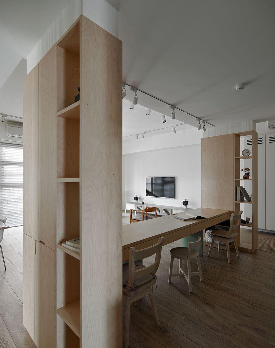 简约北欧风格三居装修书桌设计图