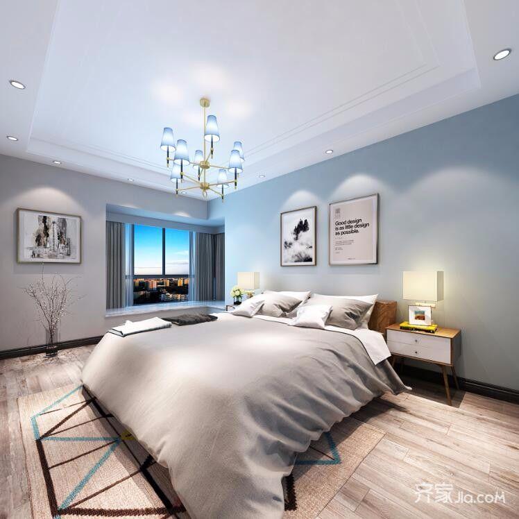 140㎡简约风格装修卧室布置图