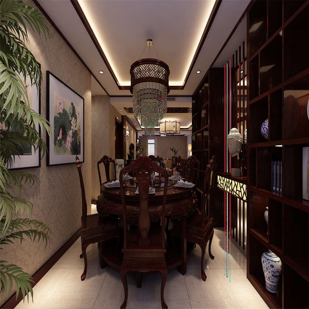 195平中式装修餐厅效果图