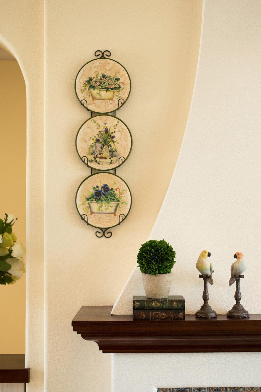 美式地中海混搭设计壁炉装饰摆件