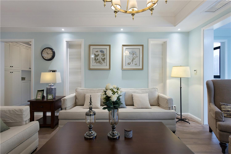 130㎡美式三居之家沙发背景墙图片