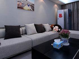 黑白系甜蜜婚房 103平时尚温馨三居室