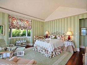 卧室田园风 18张亮色系卧室床图片