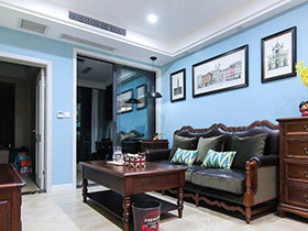 清爽喜庆的两居室装修 一丝不苟的空间感