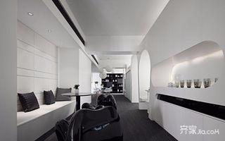 黑白简约风格办公设计效果图
