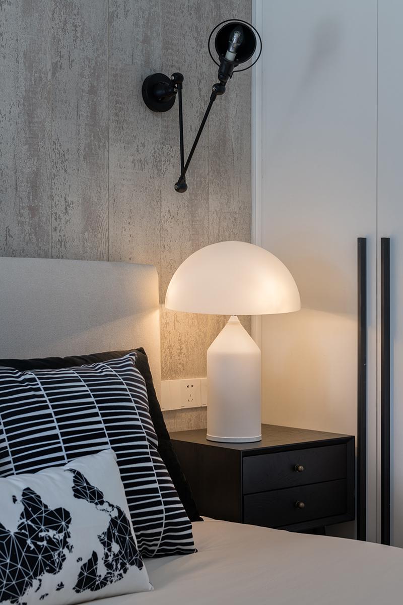 106㎡复式简约风装修床头灯设计