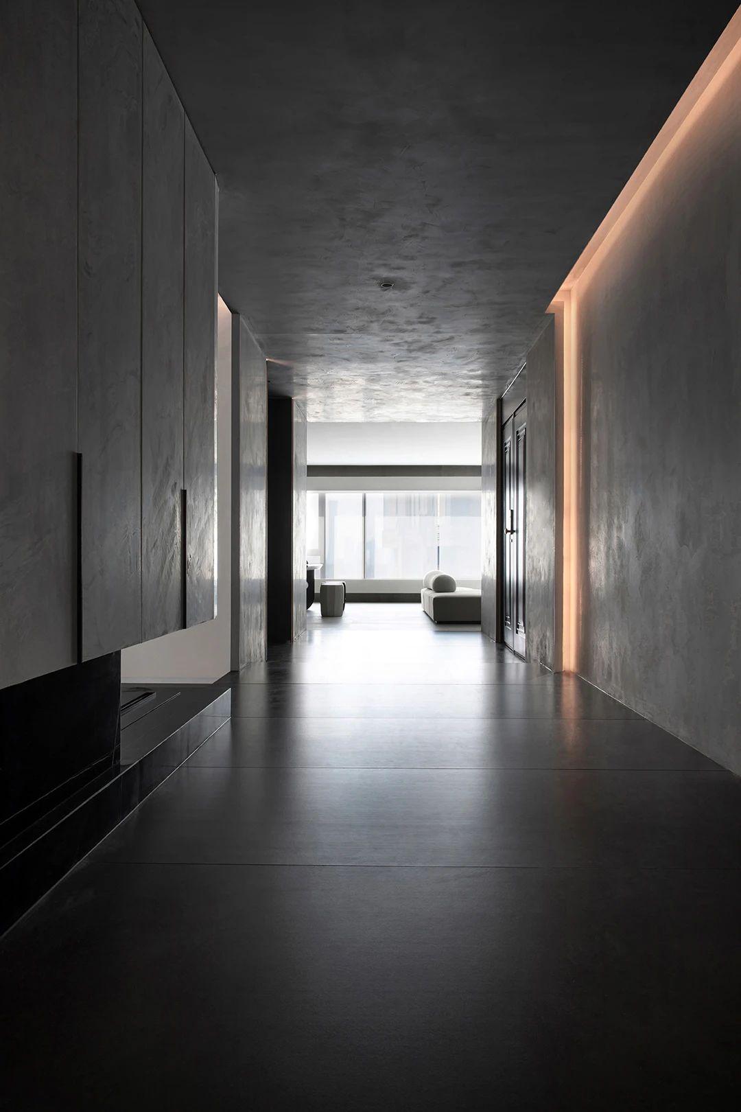 极简现代别墅走廊装修效果图