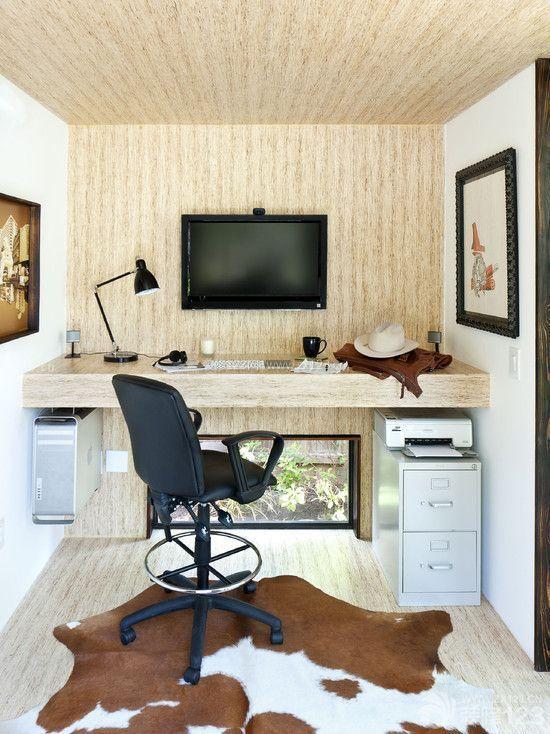 混搭风格家庭室内简单电视墙装修案例