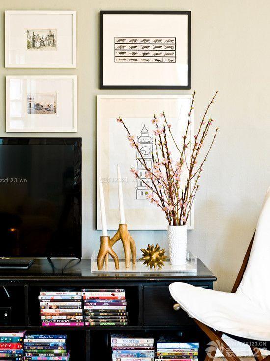 最新小户型室内简单电视墙设计图
