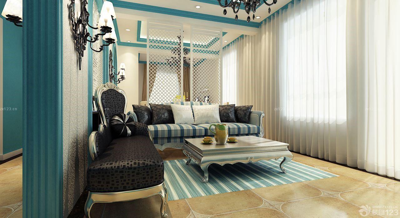 地中海混搭风格客厅建筑装修实景图