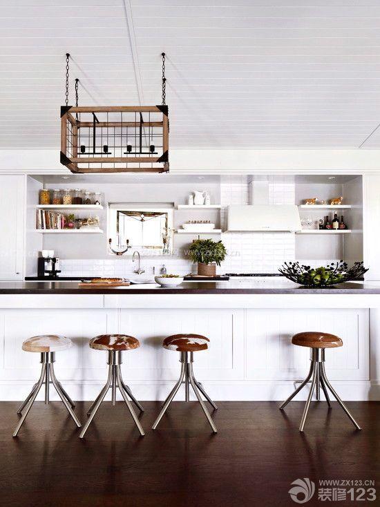 美式餐椅厨房装修设计效果图