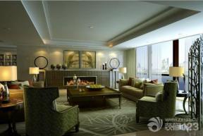 现代简约家装三室两厅两卫客厅装潢装修效果图