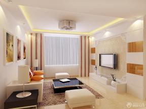 简约家装设计三室一厅一厨一卫客厅效果图