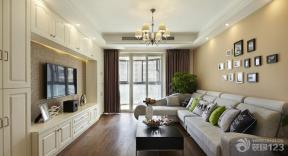 简约家装设计客厅液晶电视背景墙装修图片
