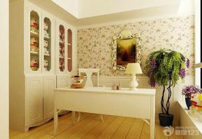 田园风格室内书房简约书桌装修效果图