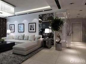 时尚简约客厅艺术玻璃墙面装修效果图