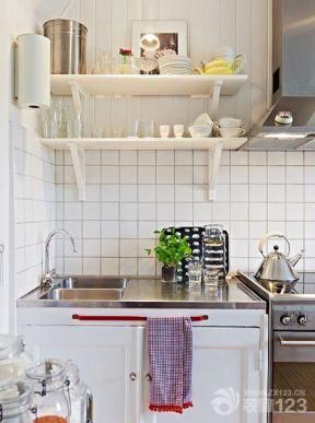 简约装修设计50平米小户型小厨房装修效果图